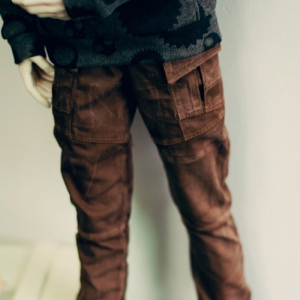 SD17 Washing Cotton Baggy Pants - Brown