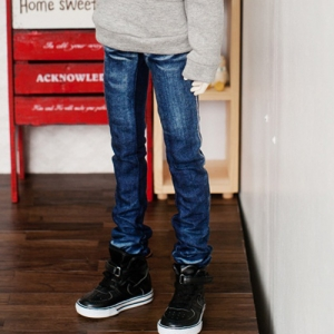 SD17 Washing Slim Jeans - Blue