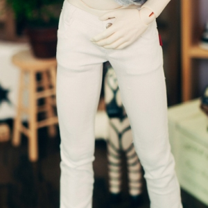 SD17 Neat Skinny Pants - White