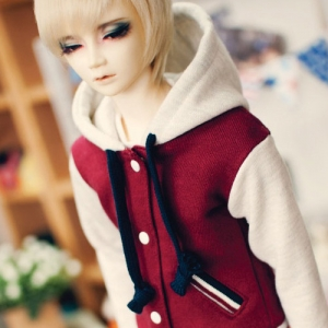 SD13 Boy Baseball Hooded Jumpe - Wine