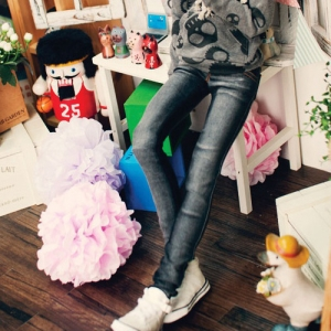 SD13 Boy  Real Skinny Washing Jeans - Black