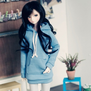 SD13 Girl Long Hooded T - Indi Blue