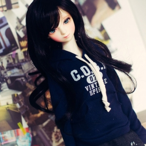 SD13 Girl Vintage Spirit Hooded T - Navy