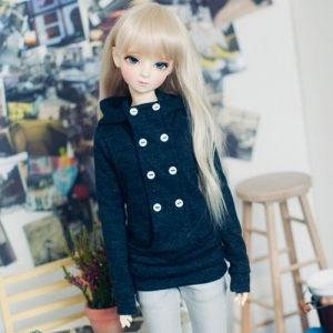 SD13 Girl Chic hooded T - Dark Gray