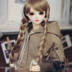 SD13 Girl Washing Cape - Beige
