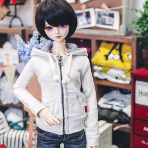 SD13 Girl Hood Zip­up - Oatmeal