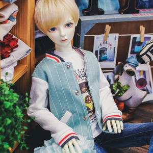 SD13 Boy Baseball Stripe Jumper - Mint