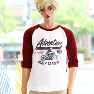 IDEALIAN 75 Adventure Raglan T shirt - Wine