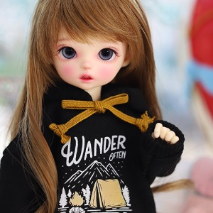 USD Wander Hooded-T Black