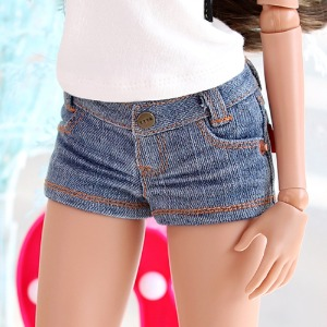 SD13 GIRL & Smart Doll New Washing Short Pants - L.Blue