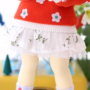 USD Flower Garden Skirt - White